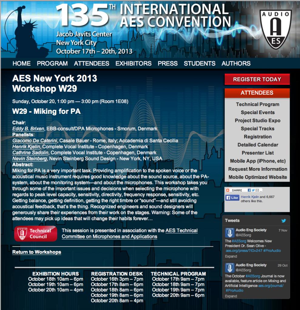 03 2013 AES Workshop abstract, N.Y., US